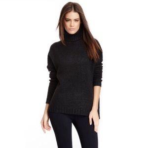 Vince Charcoal Turtleneck Cashmere Blend Sweater